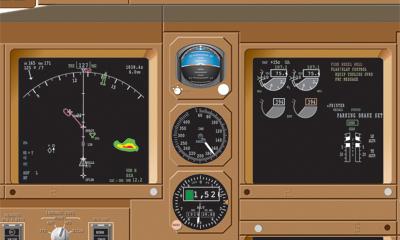Delta Overhead Flight Instruments for Boeing 767-400